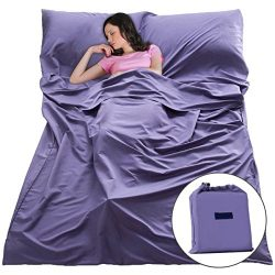 Sleep Sack Sleeping Bag Liner Lightweight Portable Sleeping Sheet Dirt-Proof Compact Travel Camp ...
