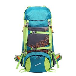 Bestorno Internal Frame Hiking Backpack 50L, Backpacking Backpack for Women and Men (Exclusive C ...