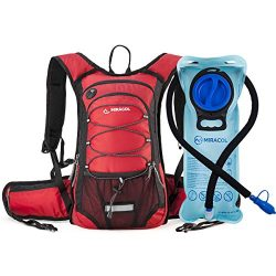 MIRACOL Hydration Backpack 2L Water Bladder, Thermal Insulation Pack Keeps Liquid Cool up to 4 H ...