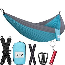 ToTheTop Lightweight Camping Hammock for Outdoor, Hiking, Backpacking, Yard and Beach, Compact,  ...