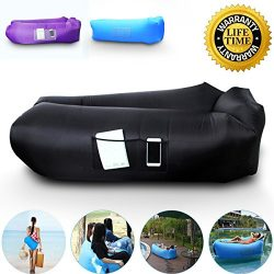 Anglink Outdoor Inflatable Lounger Couch, Thick Durable Comfortable, Air Sofa Blow Up Lounge Sof ...