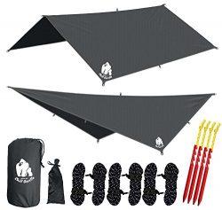 Chill Gorilla 10×10 Hammock Waterproof Rain Fly Tent Tarp 170″ Centerline. Ripstop Ny ...