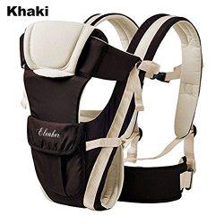 ELENKER Adjustable 4 Positions Carrier 3D Backpack Pouch Bag Wrap Soft Structured Ergonomic Slin ...