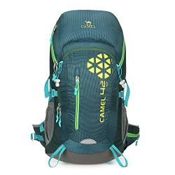 Camel 42L Internal Frame Backpack Backpacks for Backpacking Camping Hiking Travel Outdoor Large  ...