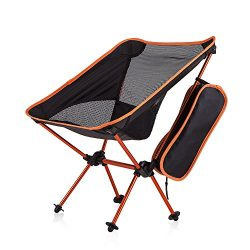 Newdora Portable Ultralight Folding Camping Chair Compact Camping Backpacking Chairs with Carry  ...