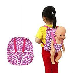 American Girl Doll Carrier, Children Kids Backpack & Doll Carrier Sleeping Bag For 18 Inch D ...