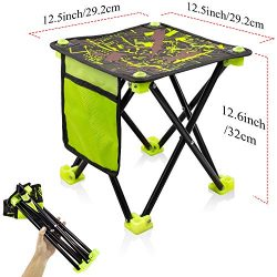 Small Folding Stool Portable, Mini Step Slacker Stool Camping Folding Chairs Outdoor, Collapsibl ...