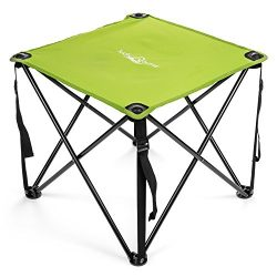 Lucky Bums Quick Camp Table with Carrying Bag, Green