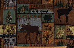 Fleece Mountain Pines Lodge Cabins Woods Bull Moose Deer Bears Ducks Animals Wildlife Hunting Ca ...