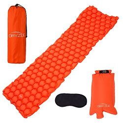 Dryzle Inflatable Lightweight Sleeping Pad – Compact Bed & Ultralight Camping Air Matt ...