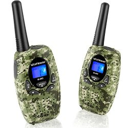 Two Way Radios with Mic Vox Clip 22 Channels, Wishouse Travel Walkie Talkie for Family with 2.5m ...