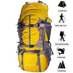 R ? HORSE Adventure 65L+5L Internal Frame Backpack; Great Backpacking Gear; Hiking Backpacks for ...