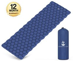 Premium Ultralight Sleeping Pad – Inflatable Compact Sleeping Mat for Camping, Hiking, and ...