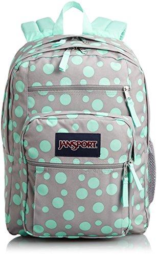 JanSport Big Student Classics Series Backpack – Grey Rabbit Sylvia Dots