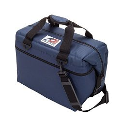 AO Coolers Canvas Soft Cooler with High-Density Insulation, Navy Blue, 24-Can