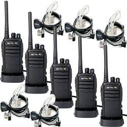 Retevis RT21 Walkie Talkies 16CH FRS Two Way Radio VOX Scrambler2 Way Radios(5 Pack) with 2 Pin ...