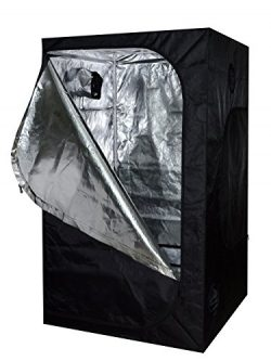 TMS 48x48x78 100% Reflective Mylar Hydroponics Indoor Grow Tent Non Toxic Room 4x4x6.5ft