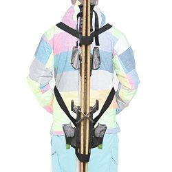 YYST Ski Tote | Skis and Poles Backpack Carrier | Ski and Pole Carry Sling Strap| ski Shoulder S ...