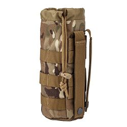 MILITARY UNIFORMS Outdoor Gear Mesh Flask Bag Drawstring Water Bottle Pouch Molle Water Bottle A ...