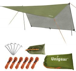 Unigear Hammock Rain Fly Waterproof Tent Tarp Camping Backpacking Tarp Shelter, Lightweight for  ...