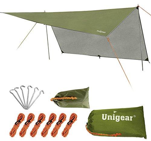 Unigear Hammock Rain Fly Waterproof Tent Tarp Camping Backpacking Tarp Shelter, Lightweight for  ...