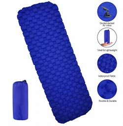 ENTOY Ultralight Sleeping Pad for Backpacking Compact Lightweight Self Inflating Camping Sleepin ...