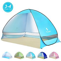 Amagoing Automatic Pop Up Beach Tent 3-4 Person Portable Cabana Instant Tent Beach Umbrella Anti ...