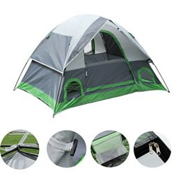 ShinyFunny Waterproof 2-3 person Backpacking Camping Tent 3-Season Lightweight Traveling Tent wi ...
