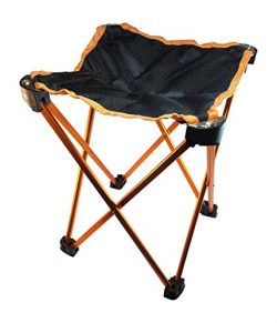 3CO Folding Camping Stool, Mini Portable Lightweight Chair for Hiking, Fishing, Beach, Travel