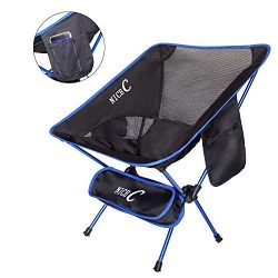 NiceC Camping Chair Ultralight Portable Folding with Two Storage bags and Carry Bag Compact & ...