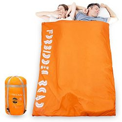 Forbidden Road Double Sleeping Bag 15 ℃/60 ℉ 2 Person Waterproof Lightweight Envelope Sleeping B ...