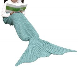 Ninovino Mermaid Tail Blanket Handmade Crochet Blankets All Seasons Sleeping Bag for kids (60 ...