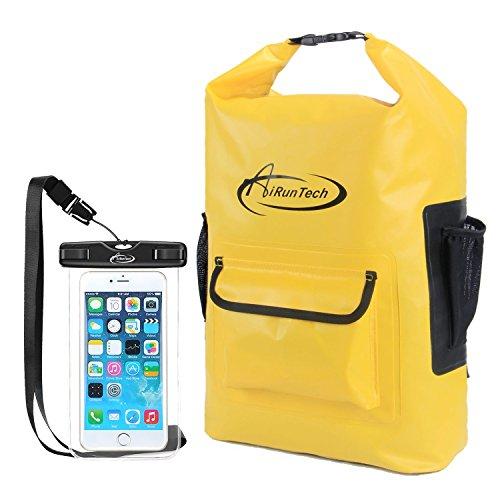 AiRunTech Floating Waterproof Dry Backpack 30L Sack Beach Storage Bags Boating Kayaking Snowboar ...