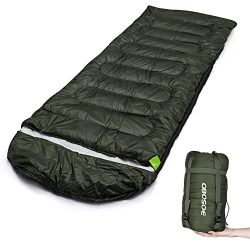 OBOSOE Sleeping Bag,(30-60℉) Portable Lightweight Compact Packable Waterproof Bags for Adult 3-4 ...