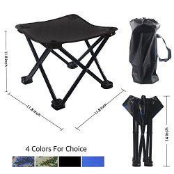 Kanchimi Light Folding Camping Stool, Sturdy Outdoor Folding Chair Slacker Chair for BBQ,Camping ...