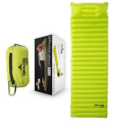 GEOLINE Outdoors Self Inflating Sleeping Pad lightweight Compact Air Mattress – For Adults ...