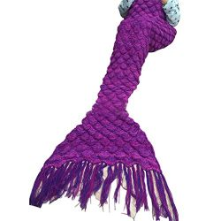 Christmas XMAS Gift for Friends, Egmy Knitted Mermaid Tail Blanket Handmade Crochet Children Kid ...