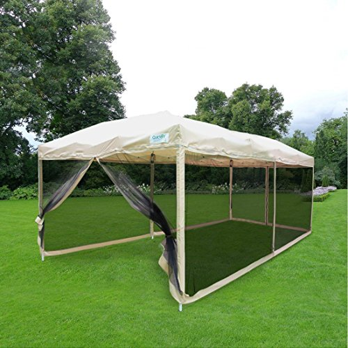Quictent 10x20 Easy Pop Up Canopy Tent Screen House With