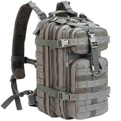 WolfWarriorX Military Tactical Assault Backpack Hiking Bag Extreme Water Resistant Small Rucksac ...