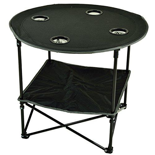 Picnic at Ascot Travel Folding Table For Picnics And Tailgating, Black