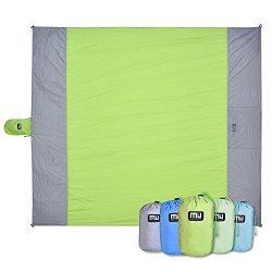 MIUCOLOR Outdoor Beach Blanket – Compact Waterproof and Sandproof Lightweight Blanket for  ...