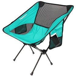 FBSPORT Lightweight Folding Camping Backpack Chair, Compact & Heavy Duty Portable Chairs for ...