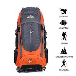 GOHYO Hiking Backpack 70L Huge Waterproof Ultra Lightweight Daypack Climbing Fishing Internation ...