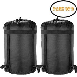 Borogo Pack of 2 Lightweight Compression Sack Sleeping Bag Pack Storage Bags Stuff Sacks Bags St ...