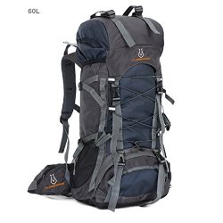AWADUO 60L Internal Frame Backpack Hiking Backpacking Packs for Outdoor Hiking Travel Climbing C ...