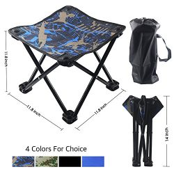 Kanchimi Light Folding Camping Stool, Sturdy Outdoor Folding Chair Slacker Chair for BBQ,Camping ...