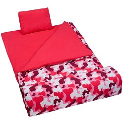 Wildkin Sleeping Bag, Children's Original Sleeping Bag with Pillowcase and Storage Bag, Premium  ...