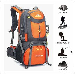 Hiking Backpack Waterproof for Men Backpacking Bag Travel Outdoor Sport Daypack for Climbing Cyc ...