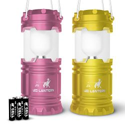 MalloMe LED Camping Lantern Flashlights For Backpacking & Camping Equipment Lights – B ...