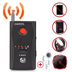 Anti-spy Camera Bug RF Detector,ONTOTL Wireless Bug Detector Hidden Camera Lens Detector Radio W ...